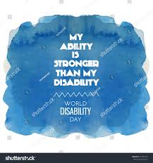 worlds disability day background motivation quotemy stock vector