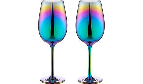 iridescent wine glasses 2 pack home garden george