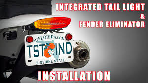 how to install integrated tail light u0026 fender eliminator on a