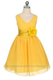 Flower Girls Dresses For Less - best 25 yellow flower dresses ideas on pinterest yellow
