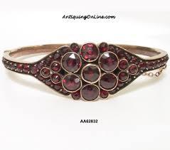 antique garnet bracelet images Antique victorian bohemian garnet bangle bracelet c 1880 jpg