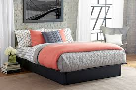Leather Platform Bed Dhp Maven Upholstered Faux Leather Platform Bed Black Ebay