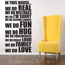 in this house house rules family words quotes wall stickers in this house house rules family words quotes wall stickers