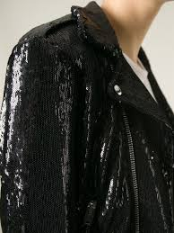 biker jacket sale iro sequined biker jacket in black lyst