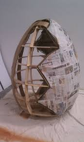 large paper mache egg how to make a paper mache egg my how to make i would make
