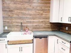 Laminate Flooring Backsplash It Looks Like WOOD Laminate - Kitchen backsplash wood