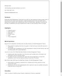 Sample Resume Of Hospitality Management by Hotel Management Resume Contegri Com