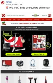 can you buy target black friday items online 22 examples to inspire your holiday email marketing