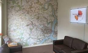custom printed ordnance survey 1 25 000 wallpaper map