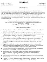 A Teacher Resume Examples by Elementary Teaching Jobs Lawteched Sample Teacher Job