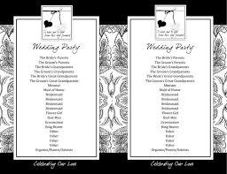 flat wedding programs wedding program templates free premium templates