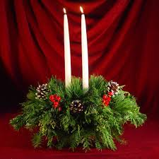christmas centerpieces maine christmas centerpieces with fresh mixed greens candles