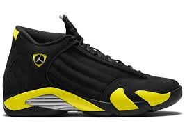 jordan ferrari black and yellow jordan 14 retro thunder