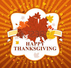 happy thanksgiving day leaves banner royalty free cliparts