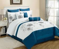 Orange And White Comforter Set Blue Bedspreads And Comforters Piece King Cremon Diva Blue And