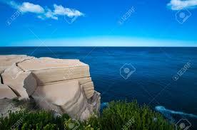 wedding cake rock sandstone wedding cake rock overlooking the stock photo