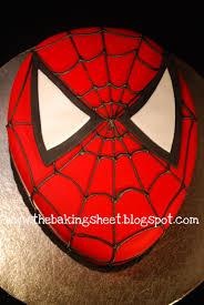 the baking sheet spiderman cake