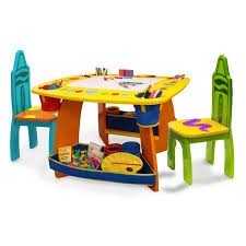 crayola table and chairs grow n up crayola wooden table chair set walmart com