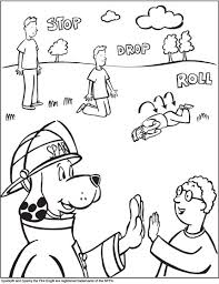 fire safety colorine 6409 sparky fire dog coloring pages
