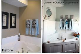 master bathroom decorating ideas pictures chic on a shoestring decorating beachy bathroom reveal