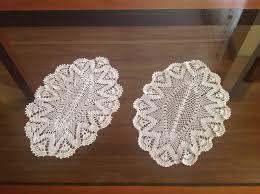 Home Decor Gifts For Mom Set Of 2 Doily Crochets Handmade Crochet Doily Table Decoration