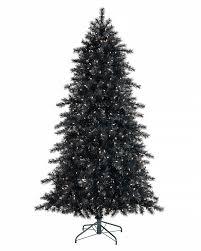 black prelit christmas tree christmas lights decoration