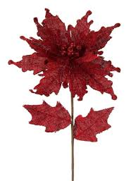 christmas picks set of 12 burlap artificial poinsettia flower christmas picks