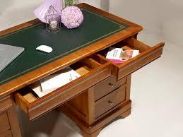 bureau en merisier bureau ministre 9 tiroirs en merisier massif de style louis philippe