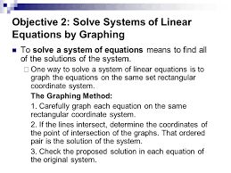 objective 2 solve systems of linear equations by graphing