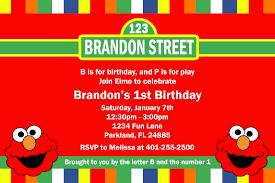 Free Birthday Invitation Cards To Print Free Printable Custom Elmo Birthday Invitations Invitations