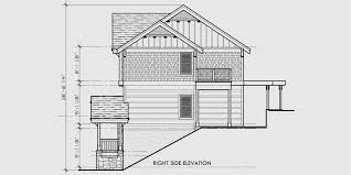 house plans for sloped lots craftsman three level house plan for sloping lots