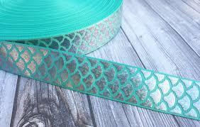 mermaid scale ribbon be a mermaid mermaid ribbon teal