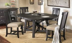 Black Round Dining Table And Chairs Yosemite Solid Pine Round Dining Set Haynes Furniture