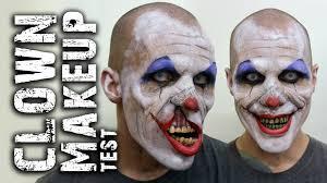 Guys Halloween Makeup by Creepy Clown Makeup Test Youtube