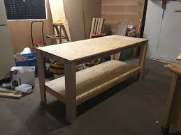Plans For Making A Wooden Workbench by How To Build A Sturdy Workbench Inexpensively 5 Steps With Pictures