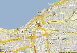 map of cleveland downtown cleveland map my
