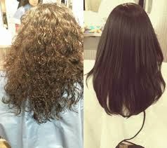 sample pictures of the customer who had japanese straight perm at