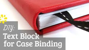 diy text block for case binding how to make your own via