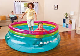 intex inflatable 80 inch jump o lene ring bouncer for kids ages 3