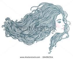 beauty salon portrait pretty young woman stock vector 99316973