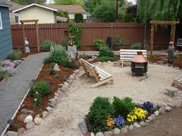 Gravel Backyard Ideas Outdoor Modish Pit For Inexpensive Small Backyard Ideas With