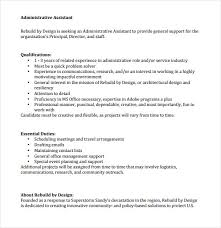 administrative assistant resumes examples sample executive