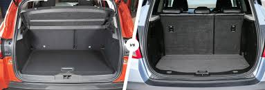 vauxhall mokka trunk renault captur vs vauxhall mokka suvs compared carwow