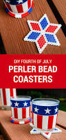 fourth of july kids crafts perler bead diy coasters merriment