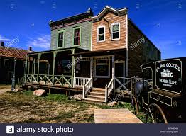 1800s ghost town in murdo south dakota used in many movies stock
