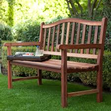 Outdoor Garden Bench Belham Living Richmond Curved Back 4 Ft Outdoor Wood Bench
