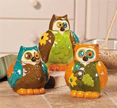 28 owl canisters for the kitchen me and my crafties more owl canisters for the kitchen owl canisters jars kitchen decor set of 3 new ebay