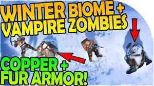 new winter biome winter zombies copper fur armor last