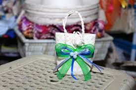 wedding giveaways buri bags mini palm leaf bag mini gift bag wedding favors