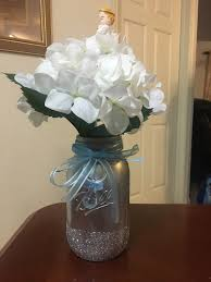 Baby Shower Centerpieces For Boy heaven sent baby shower theme centerpiece for baby boy crafty